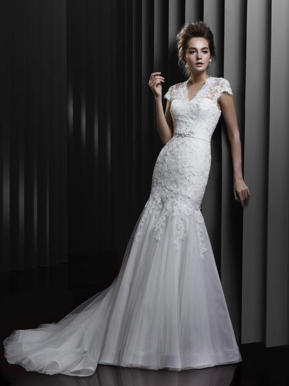Brautkleid Enzoani Meerjungfrau mit Ärmel